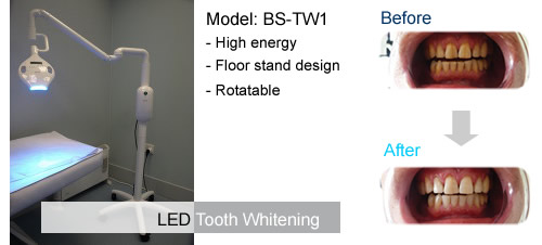 led tooth whitening system